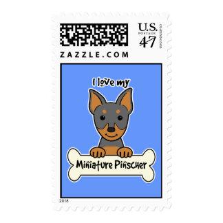 I Love My Miniature Pinscher Postage Stamp