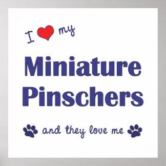 I Love My Miniature Pinschers (Multiple Dogs) Print