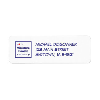 I Love My Miniature Poodle (Male Dog) Label