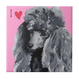 I Love my Miniature Poodle Tile