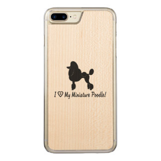 I Love My Miniature Poodle with Heart and Paws Carved iPhone 8 Plus/7 Plus Case
