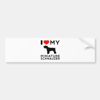 I Love My Miniature Schnauzer. Bumper Sticker