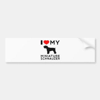I Love My Miniature Schnauzer. Bumper Sticker