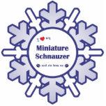 I Love My Miniature Schnauzer (Female Dog) Acrylic Cut Outs