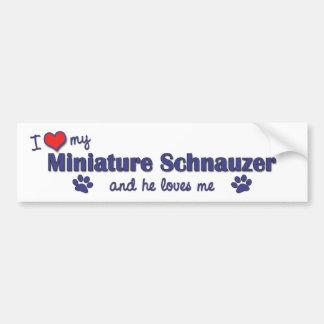 I Love My Miniature Schnauzer (Male Dog) Bumper Sticker