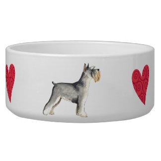 I Love my Miniature Schnauzer Pet Bowls