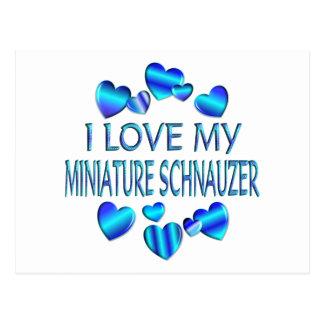 I Love My Miniature Schnauzer Postcard