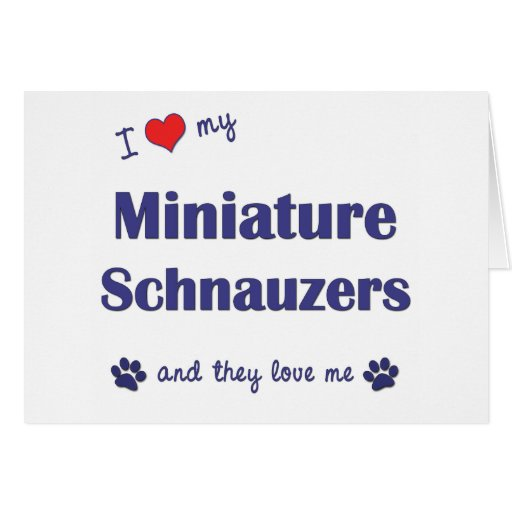 I Love My Miniature Schnauzers (Multiple Dogs) Greeting Card