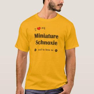 I Love My Miniature Schnoxie (Male Dog) T-Shirt