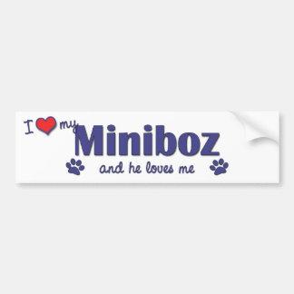 I Love My Miniboz (Male Dog) Bumper Sticker