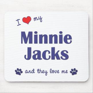 I Love My Minnie Jacks (Multiple Dogs) Mouse Pad