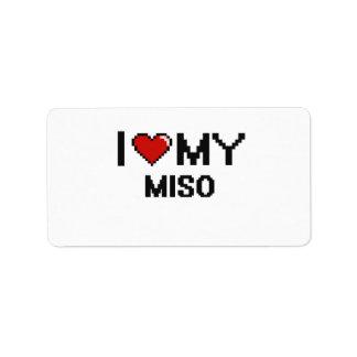 I Love My Miso Digital design Address Label