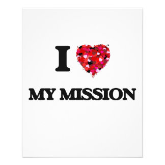 """I Love My Mission 4.5"""" X 5.6"""" Flyer"""