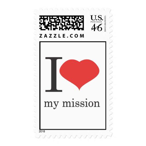 i love my mission postage stamp