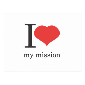 i love my mission postcard