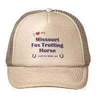 I Love My Missouri Fox Trotting Horse (Male Horse) Mesh Hat