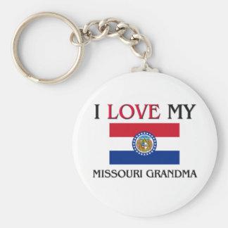 I Love My Missouri Grandma Keychain