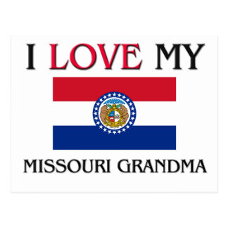 I Love My Missouri Grandma Postcard