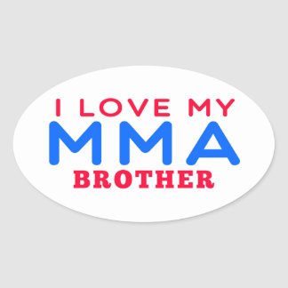 I Love My Mixed martial arts Brother Sticker