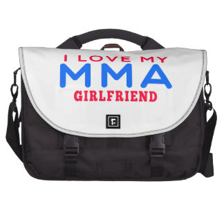 I Love My Mixed martial arts Girlfriend Commuter Bags