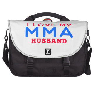 I Love My Mixed martial arts Husband Bag For Laptop
