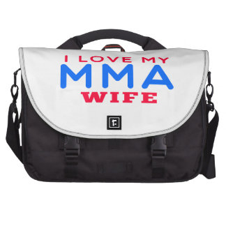 I Love My Mixed martial arts Wife Laptop Computer Bag