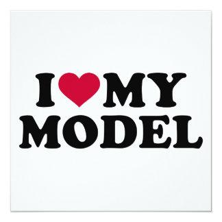 I love my model card