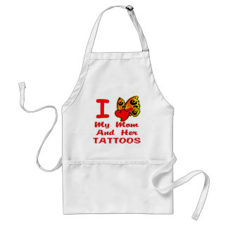 I Love My Mom And Her Tattoos Aprons