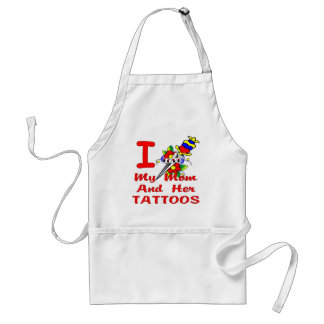I Love My Mom And Her Tattoos Apron