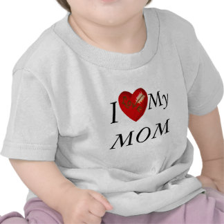 I Love My MOM  Arrow Tee Shirts