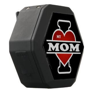 I Love My Mom Black Bluetooth Speaker