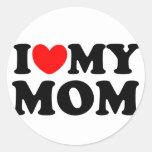I Love My Mom Classic Round Sticker