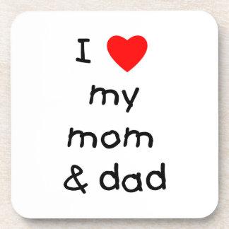 I love my mom & dad coaster