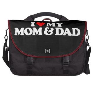 I LOVE MY MOM & DAD LAPTOP BAG