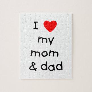 I love my mom & dad jigsaw puzzle