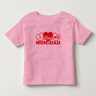 I Love My Mom & Dad Toddler T-shirt