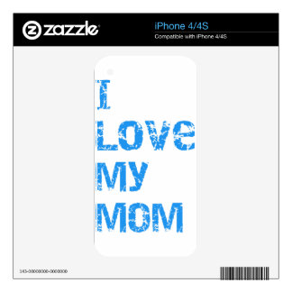 I Love My Mom Decal For iPhone 4