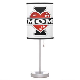 I Love My Mom Heartbeats Desk Lamp