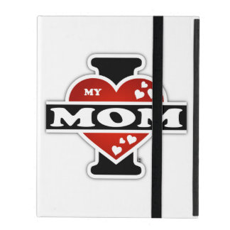I Love My Mom Heartbeats iPad Case