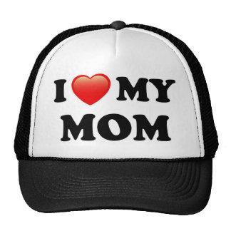 I Love My Mom, I Heart Mom Trucker Hat