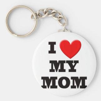 I Love My Mom Keychain