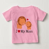 I Love My Mom Kids Baby T-Shirt