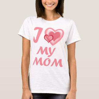 I Love My Mom Ladies Baby Doll T-Shirt