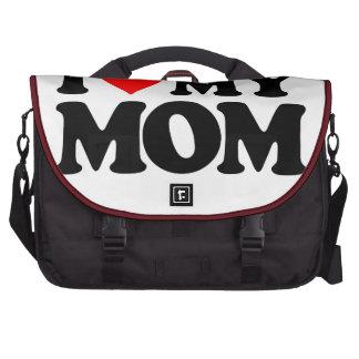 I LOVE MY MOM LAPTOP MESSENGER BAG