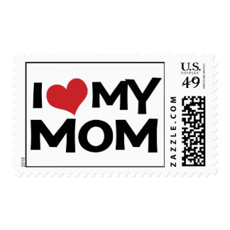 I Love My Mom Mother's Day Custom Postage Stamps