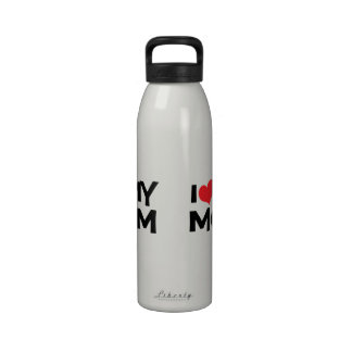 I Love My Mom Mother's Day Water Bottle