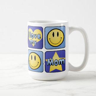 I Love My Mom Coffee Mugs
