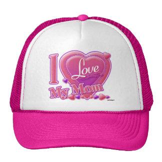 I Love My Mom pink/purple - heart Trucker Hat