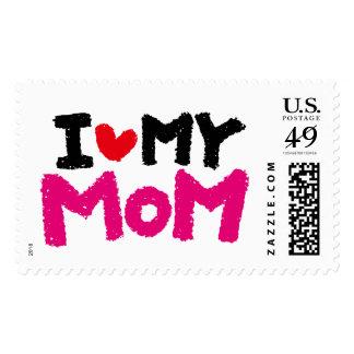 I Love My MOM Postage Stamp