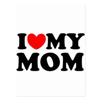 I Love My Mom Postcard